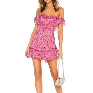 NEW Majorelle Grace Dress Floral Pink x Revolve